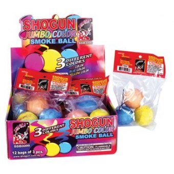 SSB3000A Jumbo Color Smoke Ball 8/12/3
